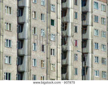 Grim Apartment Block In Russia