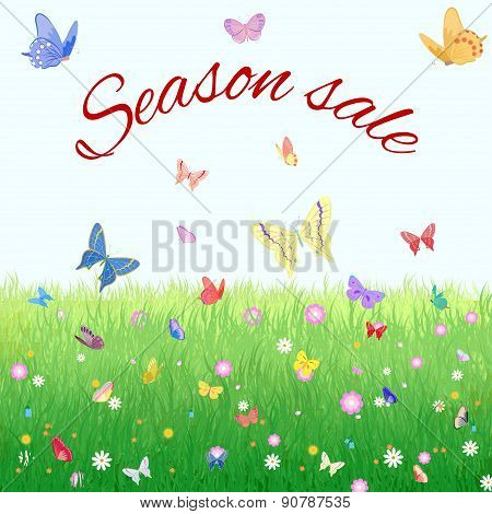 Summer, spring sale marketing poster