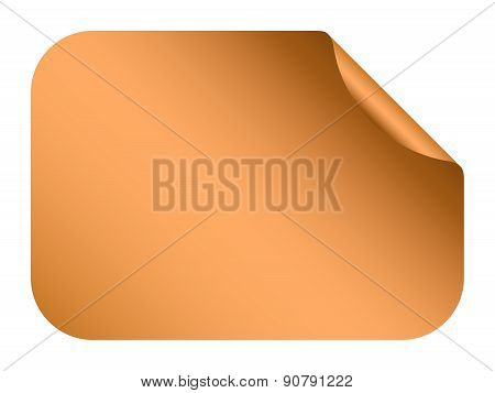 Vector Bronze Blank Bent Sticker