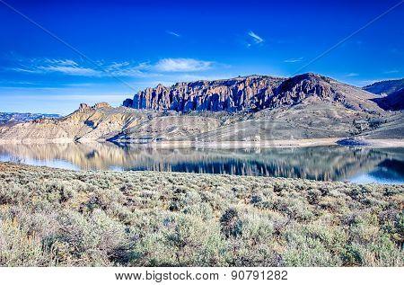 Blue Mesa Reservoir In Gunnison National Forest Colorado