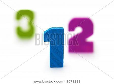 Three Figures On White Background
