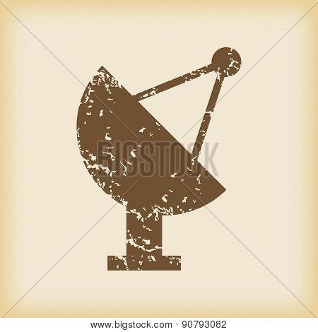 Grungy satellite dish icon