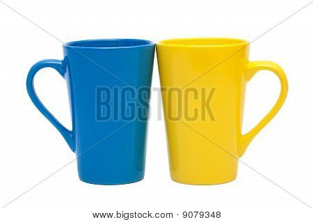 Gelb und blau Mug