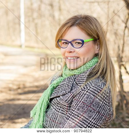 Happy Beautiful Young Woman Relax In Nature