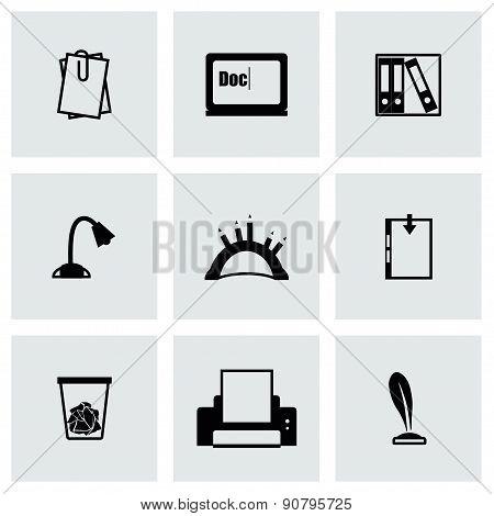 Vector Document icon set
