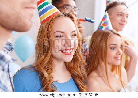 Young friend on a birthday party