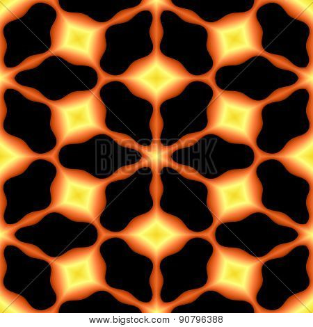 Abstract Fiery Geometric Texture Or Background Made Seamless