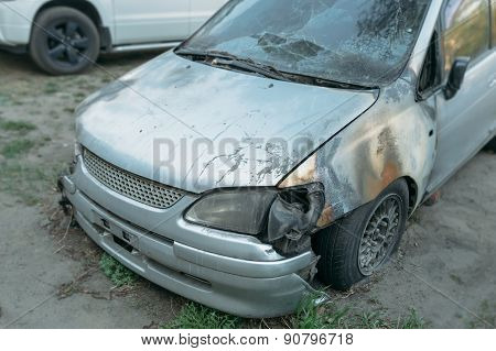 burned cars
