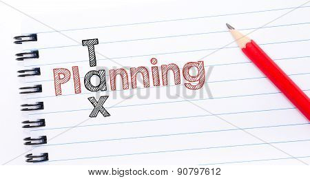 Tax Planning Crossword  Written On Notebook Page