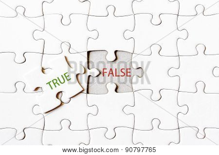 Missing Jigsaw Puzzle Piece With Word True