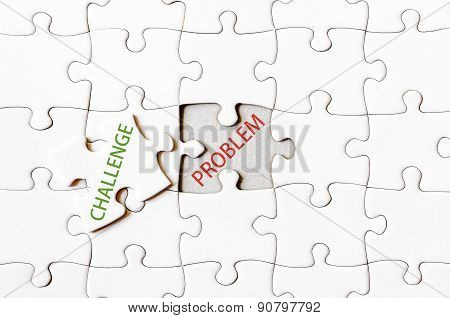 Missing Jigsaw Puzzle Piece With Word Challenge
