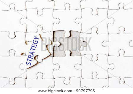 Missing Jigsaw Puzzle Piece With Word Strategy