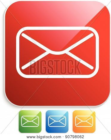 Icons With Email, Envelope Or Letter Symbol, Eps10