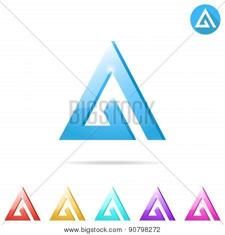 Delta Letter Logo Template With Color Variations