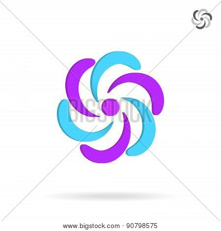 Segmented Circle - O Letter Logo Element