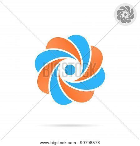 Segmented Circle - O Letter Concept