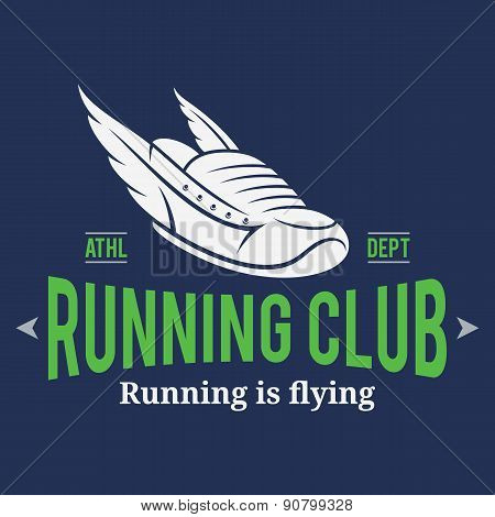 Running Club Label or Emblem Template