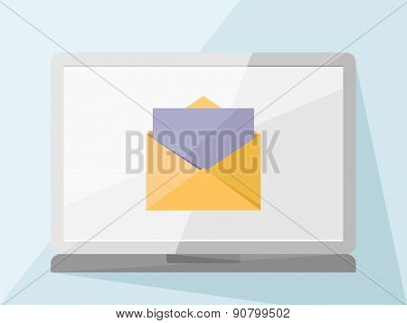 Laptop With Mail