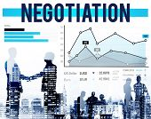 foto of negotiating  - Negotiation Benefit Compromise Contract Growth Concept - JPG