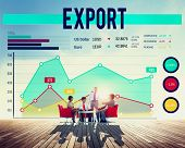 foto of export  - Business People Export Graph Concept - JPG