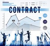 pic of bartering  - Contract Deal Business Marketing Strategy Concept - JPG