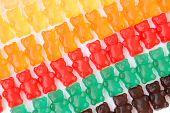 stock photo of gummy bear  - a gummy bears series background texture closeup - JPG