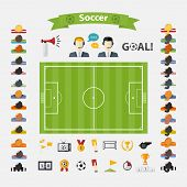 Постер, плакат: Soccer Icons set