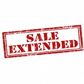 picture of extend  - Grunge rubber stamp with text Sale Extended - JPG