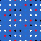 picture of color spot black white  - Simple geometric pattern with randomly colored small circles in blue - JPG