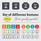 stock photo of sand timer  - Hourglass Sand timer icon sign Big set of colorful diverse high - JPG