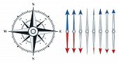 pic of compass rose  - Compass with wind rose - JPG
