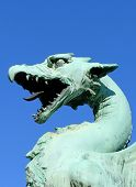 picture of dragon head  - Closeup of the head of a dragon on the Dragon Bridge  - JPG
