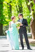 picture of stroll  - Bride and groom - JPG