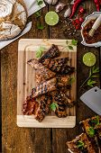 image of marinade  - Ribs in spicy marinade with chilli honey and beer - JPG