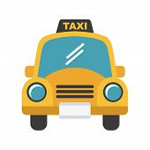 stock photo of designated driver  - taxi design over white background - JPG