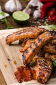 pic of marinade  - Ribs in spicy marinade with chilli honey and beer - JPG