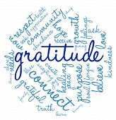 image of gratitude  - Gratitude word cloud on a white background - JPG