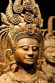 image of carving  - Abstract Cambodia wood carving art in Thailand - JPG