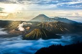 image of bromo  - Bromo Tengger Semeru National Park in East Java Indonesia  - JPG