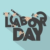 picture of labor  - Concept Of Labor Day Typography Design Vector Illustration - JPG