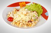 foto of caesar salad  - Plate of traditional caesar salad with chicken - JPG