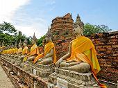 foto of piety  - Buddha ancient  at Yai Chai Mong Kol temple - JPG