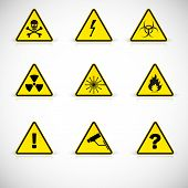 pic of attention  - Attention flammable signs - JPG