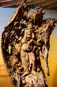 picture of ganesh  - Ganesh  is a beautifully carved from wood - JPG