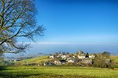 stock photo of west village  - A view of The Cumbrian village of Grayrigg. North West England.