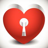 picture of keyholes  - Single heart with keyhole in it - JPG