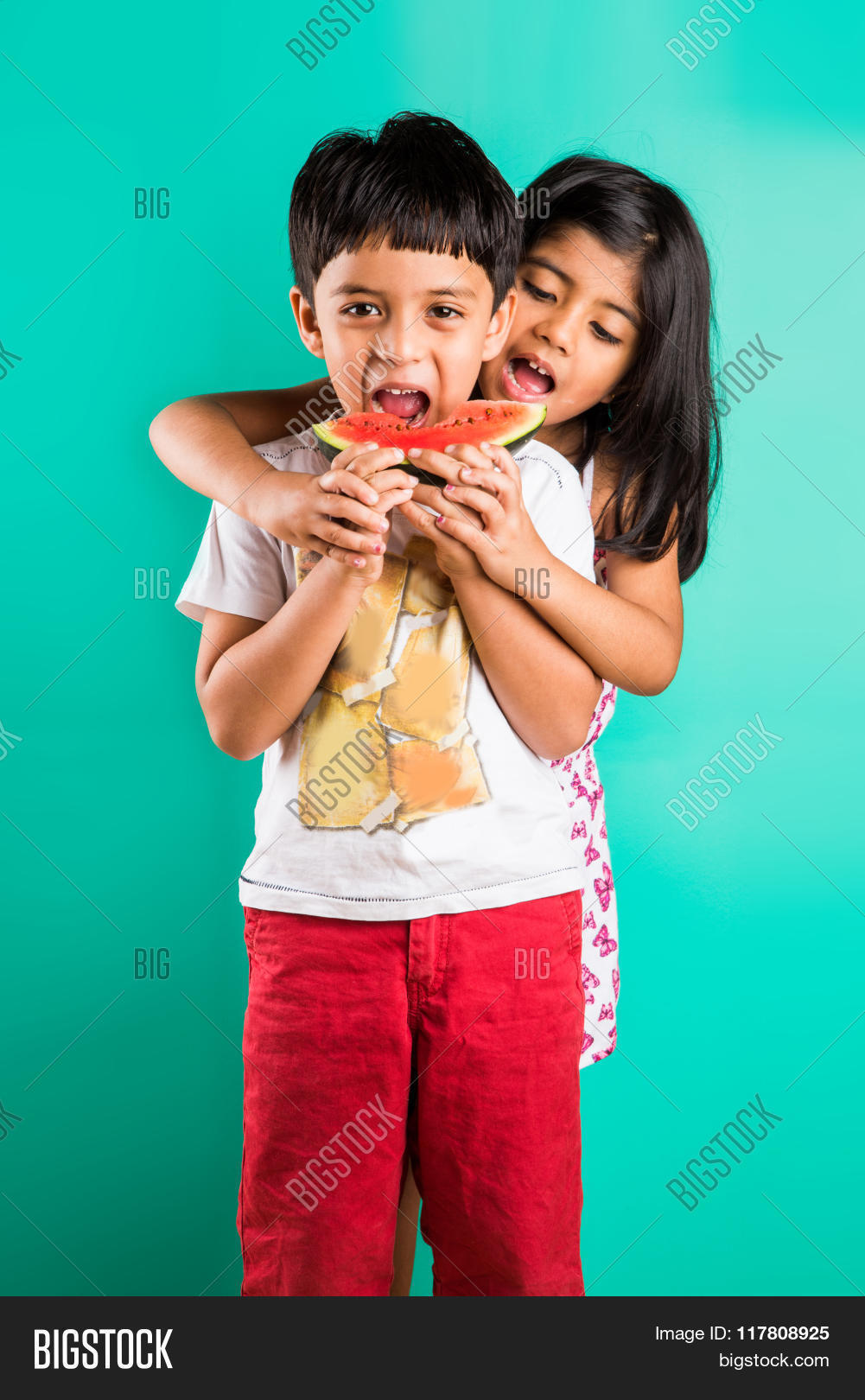 two indian kids fighting watermelon image u0026 photo bigstock
