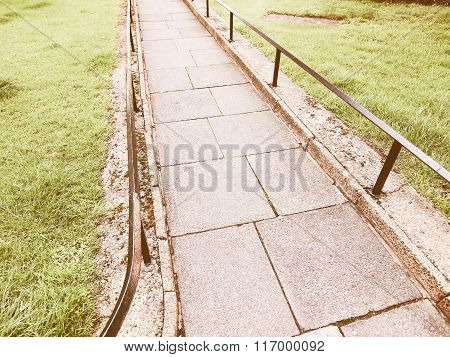 Pavement Sidewalk Vintage
