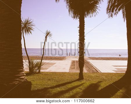 Retro Looking Beach Picture