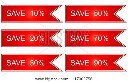 Shopping Tags Labels